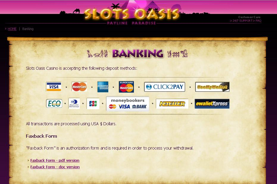 slots oasis casino-play for fun