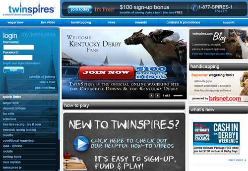 TwinSpires Online Horse Race Betting