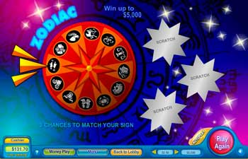 Zodiac Scratch Off Game