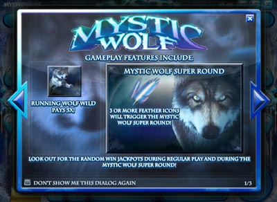Mystic Wolf Slot Pay Table