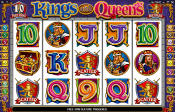 Kings and Queens Free Spins