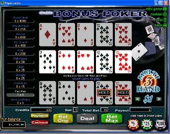 Double Double Bonus 3-Hand Video Poker