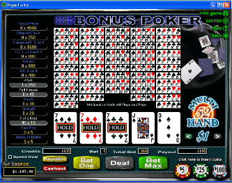 Double Double Bonus 52-Hand Video Poker
