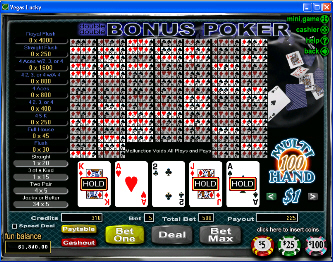 Double Double Bonus 100-Hand Video Poker