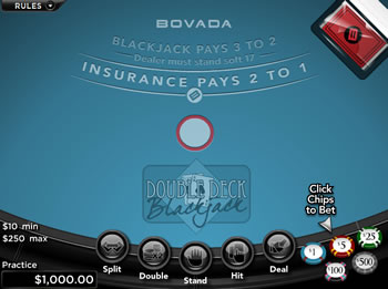 Free Double Deck Blackjack Game