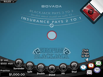 Free European Blackjack Game