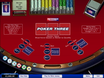 Free Poker Three Game