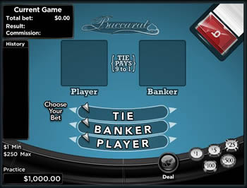 Free Baccarat Table game
