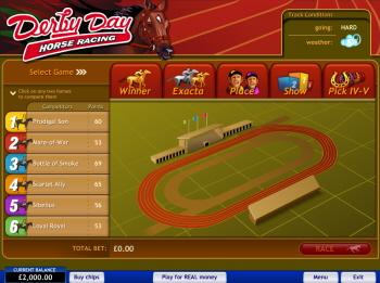Free Derby Day Horse Racing Game