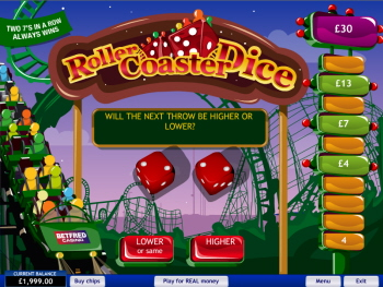 Free Roller Coaster Dice Game