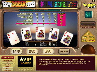 Super Jackpot $1 Progressive Video Poker