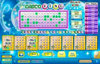 Disco Keno Scratch Off Game