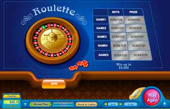 Roulette Scratch Off Game