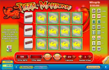 Tiger Mahjong Scratch Off Game