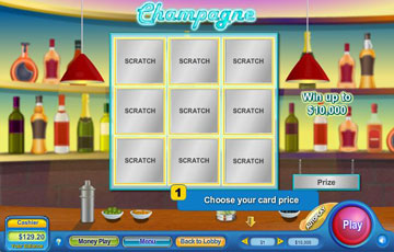 Champagne Scratch Off Game