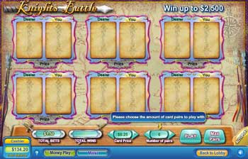 Knights Battle Scratch Off Game