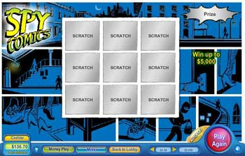 Spy Comics Scratch Off Game