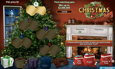 Christmas Joy Online Scratch Card