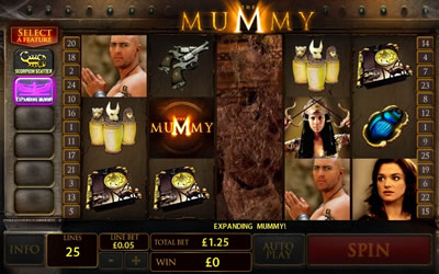 Play the mummy slot game