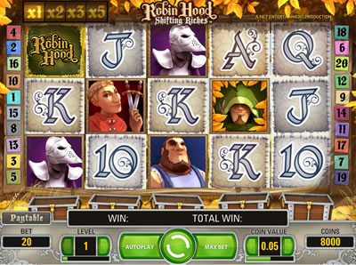 Robin Hood Shifting Riches Online Slots