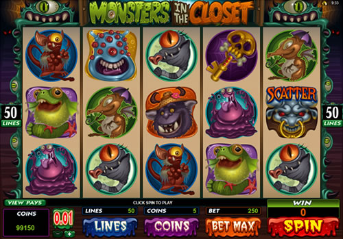 Monsters in the Closet Slots