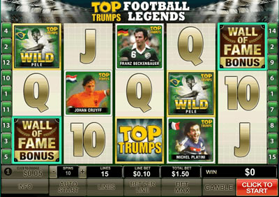Top Trumps World Football Legends Slot