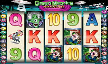 Green Meanies from Outta Space Slots