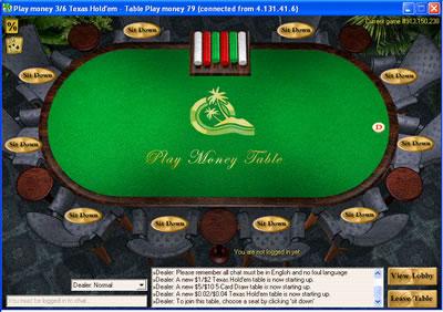 Paradise poker software