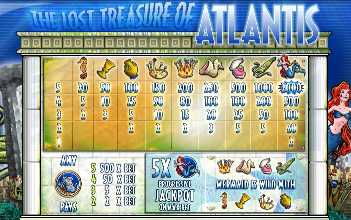 Atlantis Paytable