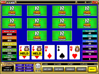Ases e Caras 10 Mano Video Poker