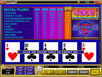 Ases e Caras Video Poker