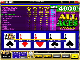Todo Ases Video Poker