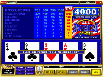 Todo Americana Video Poker