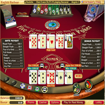 5 Card Mulligan Video Poker
