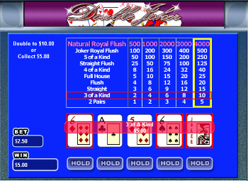 Multi-Hand Double Joker Video Poker