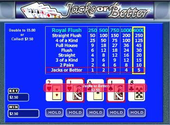 Multi-Hand Jacks or Better Video Poker