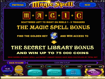 Magic Spell Online Slots Bonus