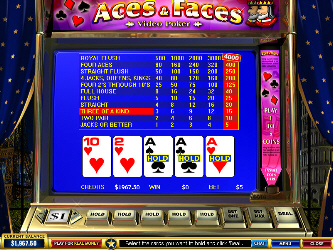 Aces and Faces Online Video-Poker