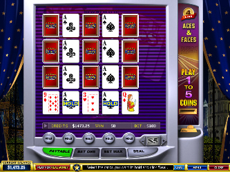 Aces & Faces 4-Line Online Video-Poker