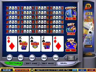 Aces and Faces 25-Hand Online Video Poker