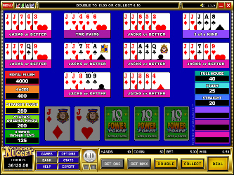 Aces and Faces 10-Hand Online-Video-Poker