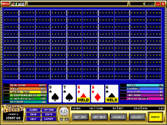 Aces and Faces 100-Hand Video-Poker