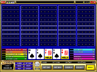 Deuces Wild 50-Hand Video-Poker