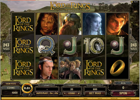 Win Free Spins at Red Flush Casino on the LOTR slots game
