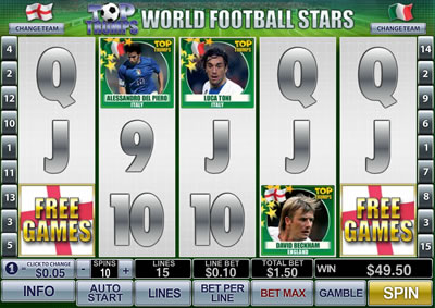 Play Top Trumps World Football Stars slot now!