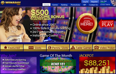 Play at Win A Day Casino now!