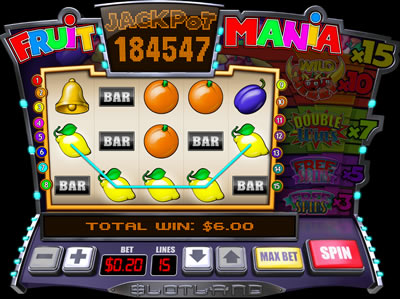 Play Fruit Mania slots now!