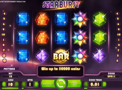Play Starburst slots now!