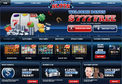 Play Liberty Slots casino games now!
