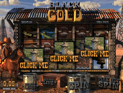 Play Black Gold 3D slots now!